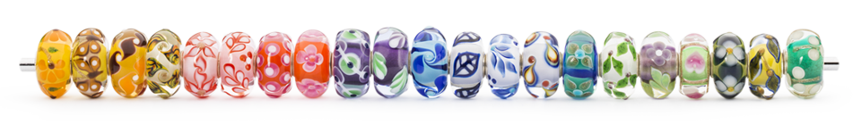 stack of Trollbeads Uniques